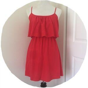 Tiered Red Mini Dress